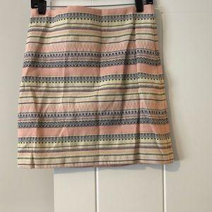 LOFT Jacquard Shift Skirt